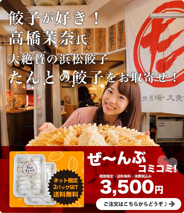 高橋茉奈氏大絶賛の浜松餃子